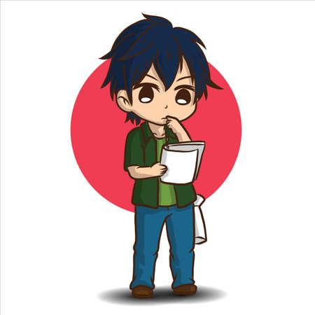 Cute cartoon Film director, Job Concept.