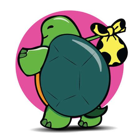 cute turtle cartoon., Cute Animal concept.