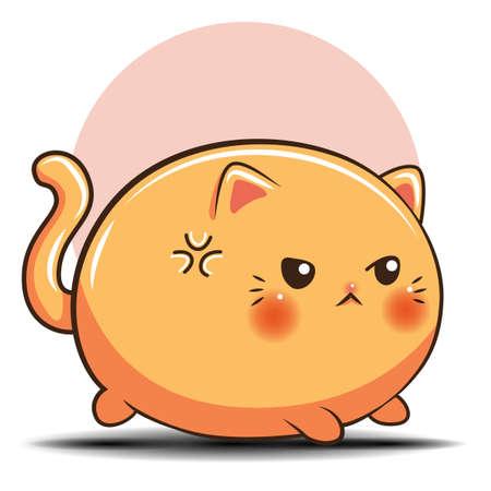 cute cat cartoon., Pet shop concept.