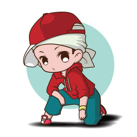 Cute dancer cartoon character., job concept. 向量圖像