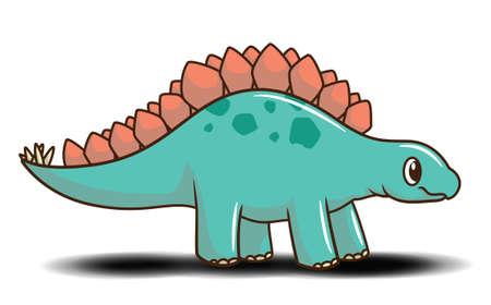 Cute stegosaurus cartoon., Cute dinosaur Concept.