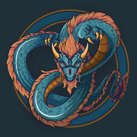Works of art Chinese dragon vactor