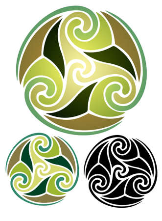 abstract Celtic style design representing the spirit of Earth, or Mother Nature Stock Vector - 19553588