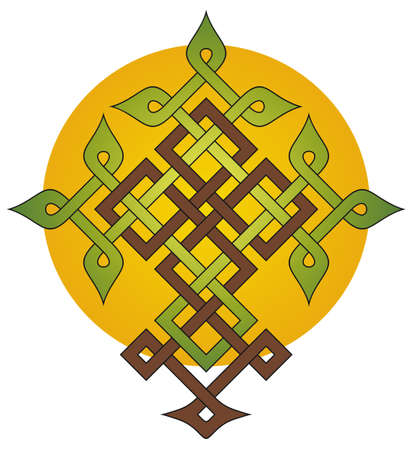 Tree of Life Cross knotwork design
