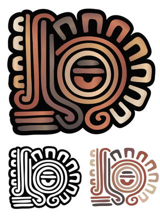 Abstract Eye Symbol From Mayan Artifacts Comes With Non Gradient