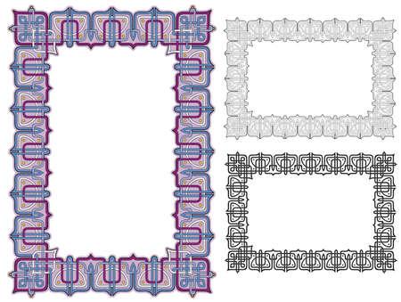 knot work: ornate knot work border