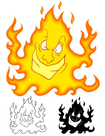 mean minded fire monster, with bonus variations