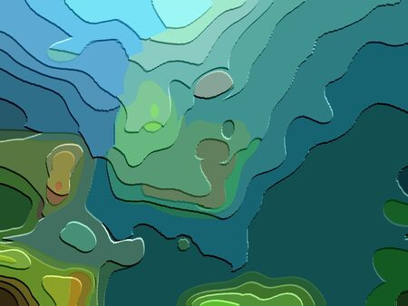 under the sea abstract art effect