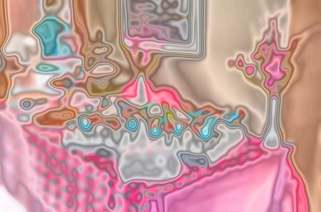 romantic dinner in abstract art effect