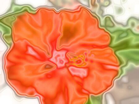 luster: orange flower in abstract art effect