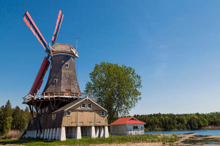 canada agriculture: The iconic Dutch Windmill of Bayfield.