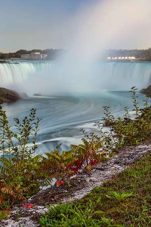 horseshoe falls: Horseshoe Falls, Niagara at twilight.