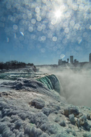 american falls: Mist and spray covering my lens while shooting the American Falls.