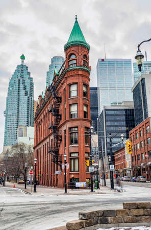 flatiron: The Gooderham Building in downtown Toronto, aka Flatiron Building.