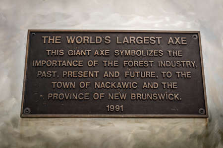 oddity: The worlds largest axe is located in Nackawic, New Brunswick, Canada and weighs over 55 tons and stands 15 metres tall. Editorial