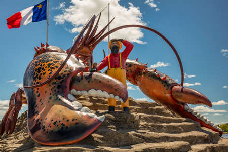maritimes: Lobster Capital of the World, Shediac is a Canadian town that boasts The Worlds Largest Lobster weighing in at 90-tonnes.