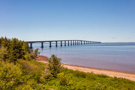 The Confederation Bridge linking New Brunswick to Prine Edward Island.