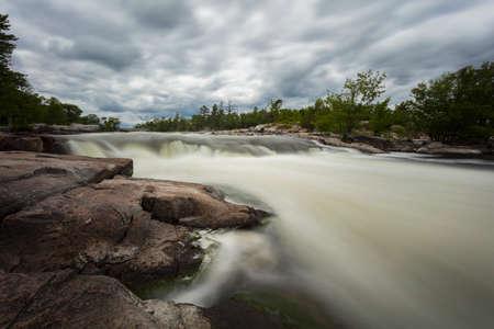 Burleigh Falls in late spring, Ontario, Canada.