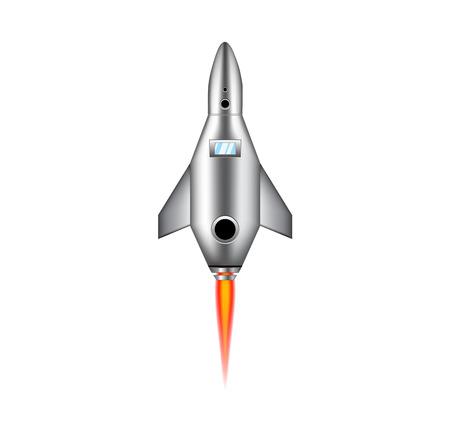 space ship: Vector - Cartoon rocket space ship