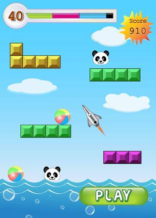 Vector - SmartPhone Main Game Screen Shot