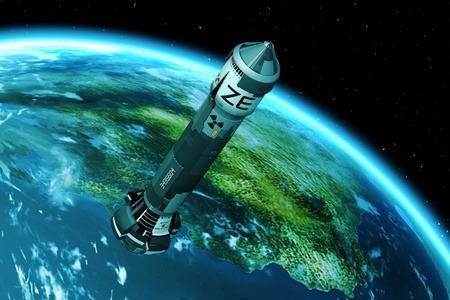explosion engine: 3D Nuclear Rocket Launch