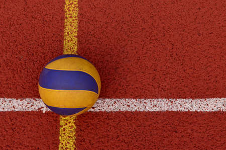 terrain de handball: Volley-ball jeu Banque d'images