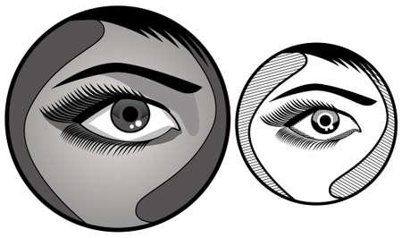 cornea: Circle Eye Vector