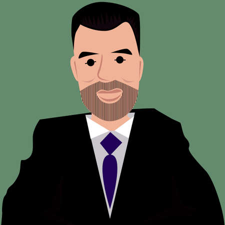 bussiness: Bussiness man vector cartoon Illustration
