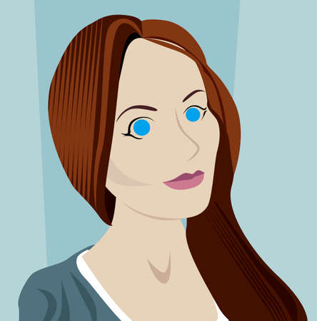tennager: Blue eyes woman vector