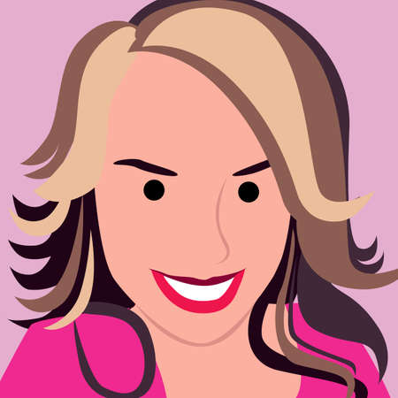 Girl face with pink background