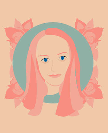 tennager: Pink face portrait