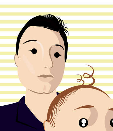 tennager: Brothers selfie shoot Illustration