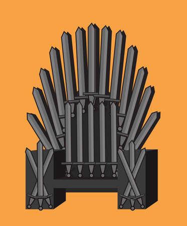 Throne orange background Illustration