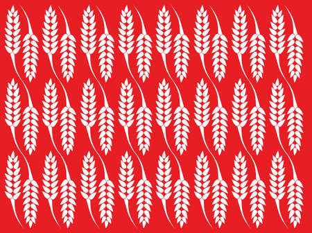 Wheat texture with red background Ilustracja