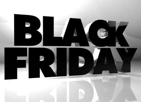 text 3d: Black Friday text 3d