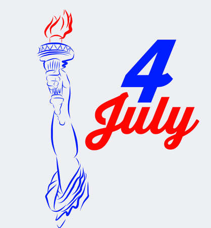 rt: 4 of July vector illustration
