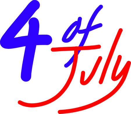 rt: 4 of July illustration text
