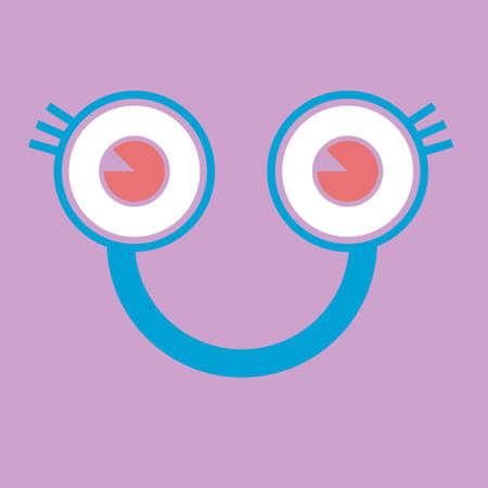 carita feliz: Cara feliz vector de la historieta
