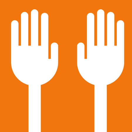 ok sign language: Hand vector
