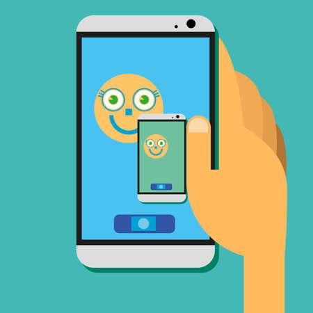 toque: Tela de toque Smartphone Ilustra��o