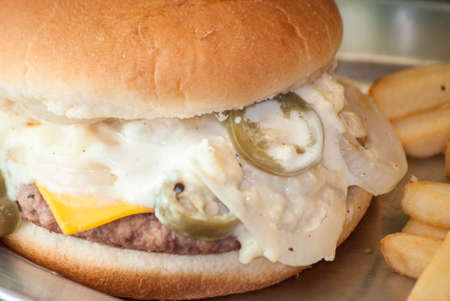 luis: Burger with onion and jalapeo