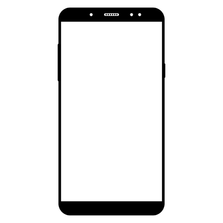 Smartphone cell phone On a white background