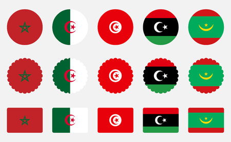 Morocco Libya Mauritania Flags of the Moroccan Union