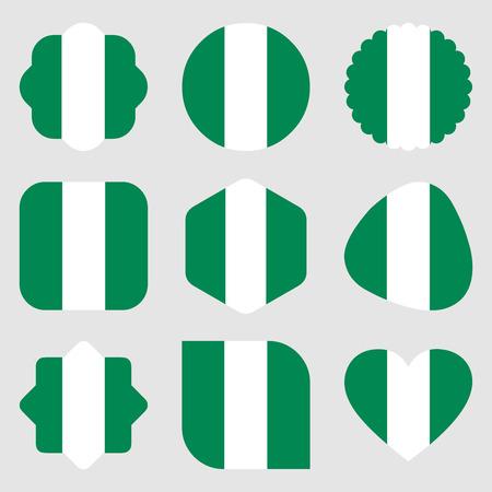 nigeria africa flags illustration vector download Illustration
