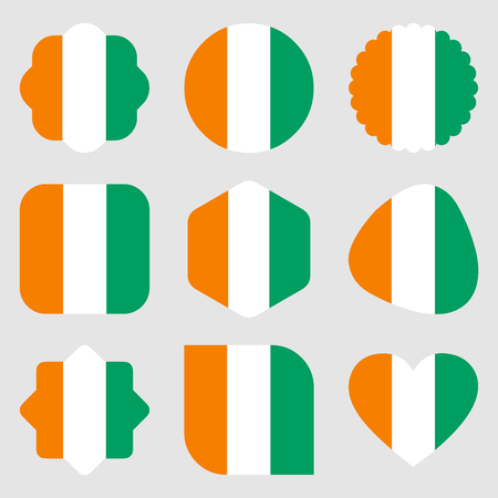 flags ivory coast africa illustration vector download 写真素材 - 124355860