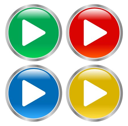 glossy play buttons illustration vector download