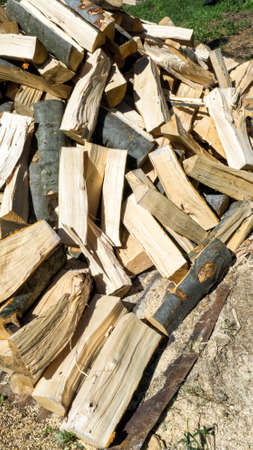 Cutted firewood Banque d'images