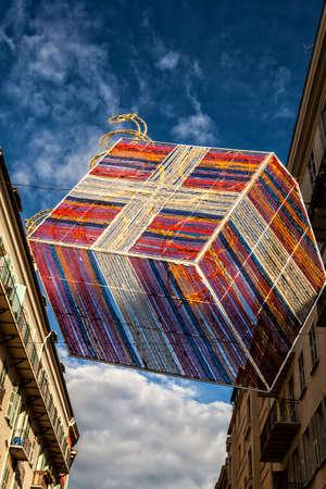 Décorations de rue pendant carnaval Banque d'images - 97210429