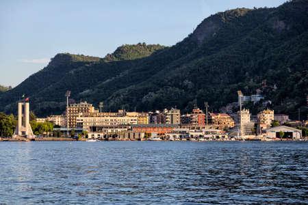 Panoramic view of Como sport village. Como Lake. Italy