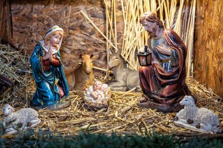 Côme, Italie - 10 décembre 2016: crèche de Noël Banque d'images - 97343323